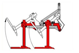 Dispositif de sécurité à réenclenchement hydraulique pour porte outils EGRETIER