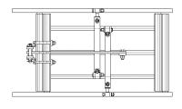 Cadre double porte outils EGRETIER pour tracteur interligne