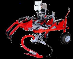 """Cadre CV6 sur terrage roues pneumatiques, équipé de dents escamotables et d'un intercep """"Mini-Sillon"""" EGRETIER"""