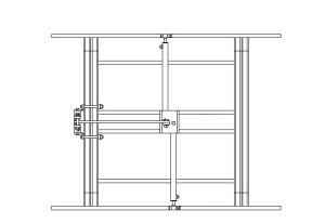 Cadre porte-outils CV6 EGRETIER pour tracteur interligne