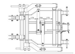 Cadre CV Tous Terrains EGRETIER, plan horizontal pour tracteur interligne