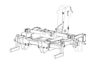 Cadre CV Tous Terrains EGRETIER, plan vertical pour tracteur interligne