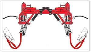 Barre porte outils à extension hydraulique par parallélogramme EGRETIER