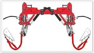 Barre porte-outils à extension hydraulique par parallélogramme EGRETIER