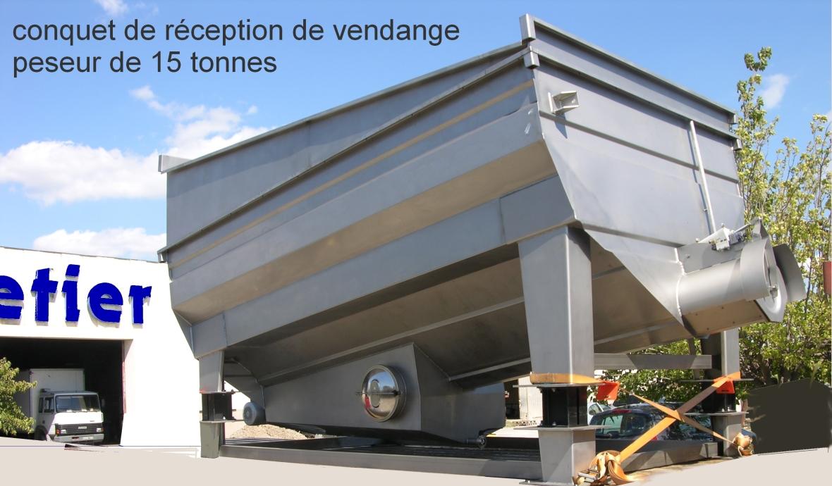 Conquet de reception de 15 tonnes EGRETIER