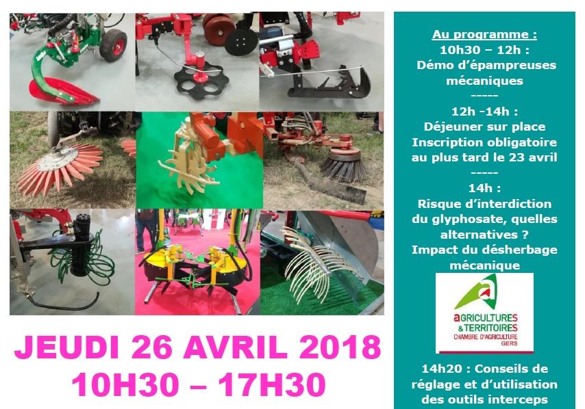 Affiche démonstration le 26 Avril 2018 dans le Gers